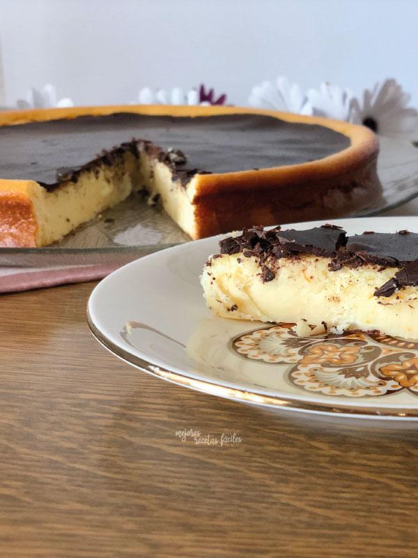 tarta de queso y naranja