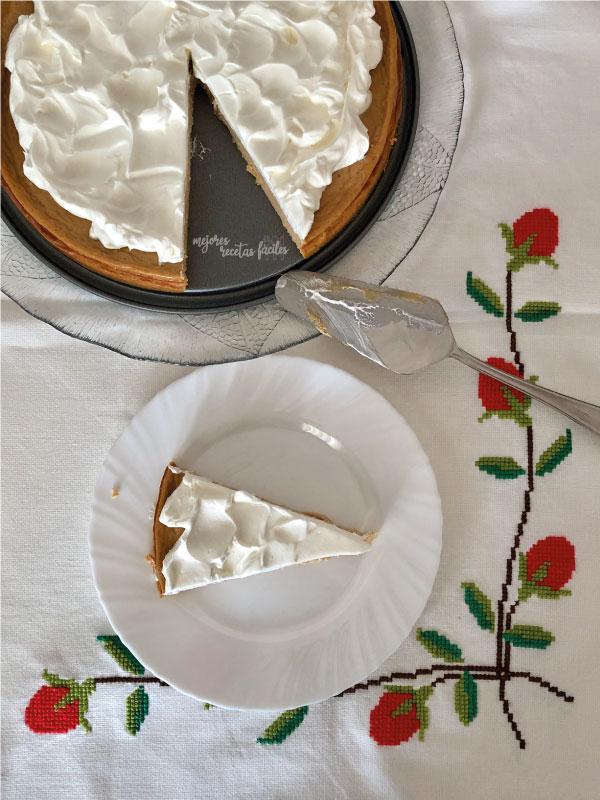 tarta de queso y dulce de leche