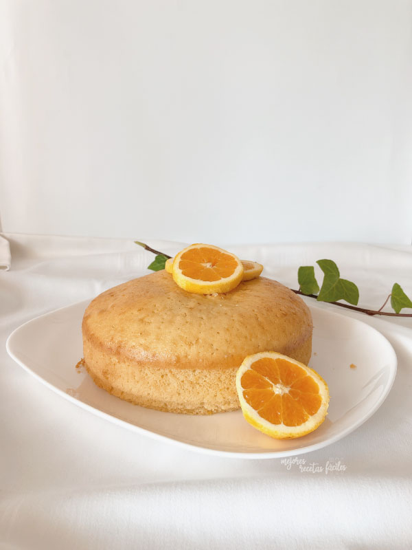 bizcocho de nata y naranja