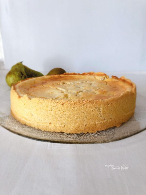 tarta de queso y pera