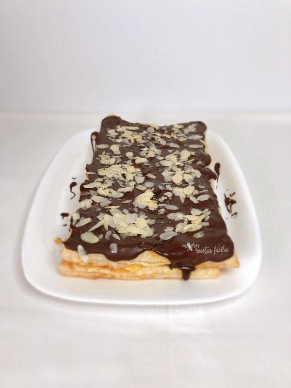 tarta de hojaldre con crema pastelera