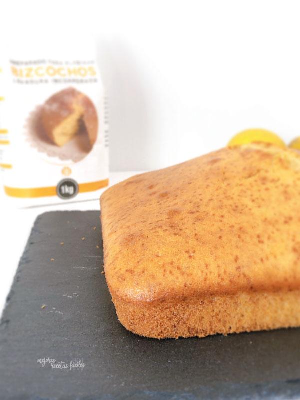 bizcocho de limón con harina especial