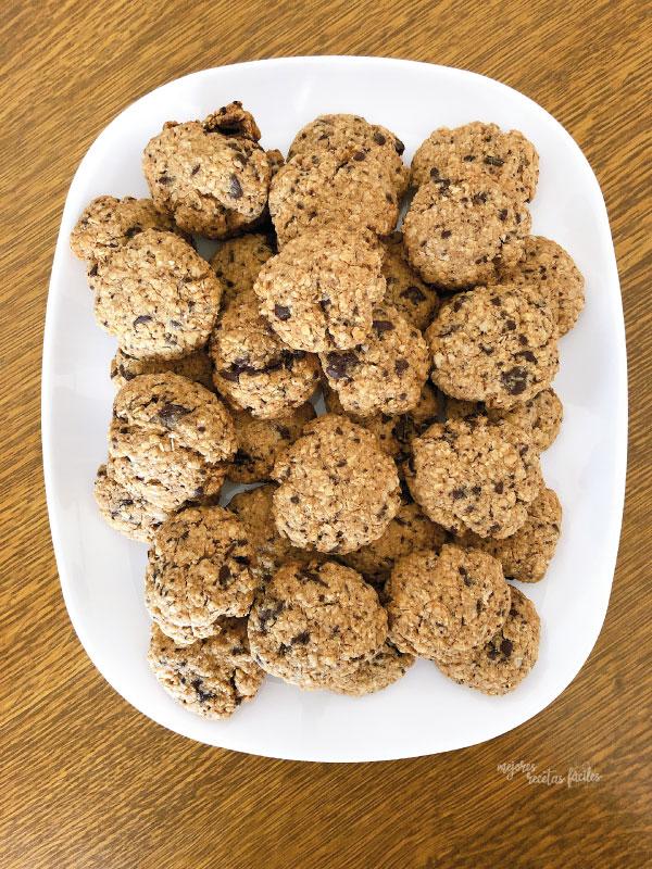 cookies de avena y almendra